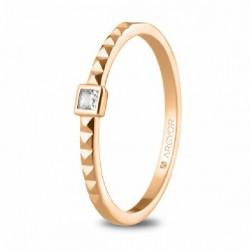 Solitario Argyor oro rosa 750 talla 13 - REF. 74R0086/13