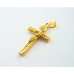 Cruz oro 750 con cristo - REF. MO-144751/CR