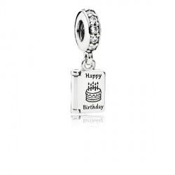 Abalorio Pandora plata 925 tarjeta cumpleaños - REF. 791723CZ