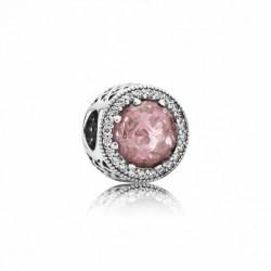 Abalorio Pandora plata 925 cristal facetado rosa - REF. 791725NBP
