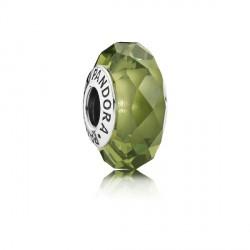 Abalorio Pandora plata 925 cristal facetado verde - REF. 791729NLG