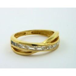 Anillo oro 750 con circonitas baguet - REF. MO-2583S39/S