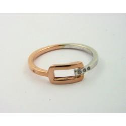 Anillo oro blanco y rosa 750 con brillantes - REF. BC-61490101/S