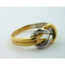 Anillo oro blanco y amarillo 750 - REF. MO-01C7750022