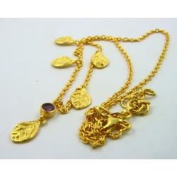 Gargantilla plata dorada 925 LeCarré hojas - REF. LD038AM00