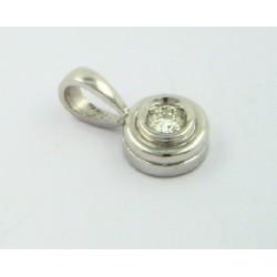 Colgante oro blanco 750 con brillante - REF. SF-05256BCO/CL
