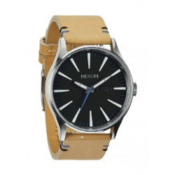 Reloj Nixon Sentry Leather Natural / Black - REF. A1051602