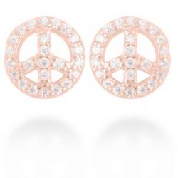 Pendientes Luxenter Omarosa plata rosa 925 - REF. EH079R0000