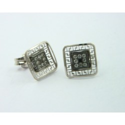Pendientes oro blanco 750 - REF. LV-643072B/PE