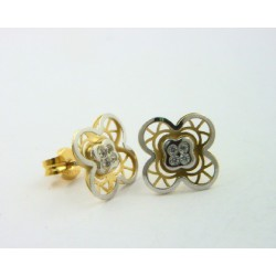 Pendientes oro blanco y amarillo 750 - REF. LV-643322/PE