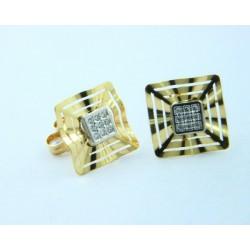 Pendientes oro 750 blanco y amarillo - REF. LV-643502/PE