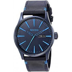 Reloj Nixon Sentry Leather All Dark Blue - REF. A1052224