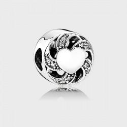 Abalorio Pandora plata 925 ¨Corazón enlazado¨ - REF. 791976CZ