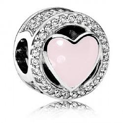 Abalorio Pandora plata 925 ¨Amor maravilloso rosa¨ - REF. 792034CZ