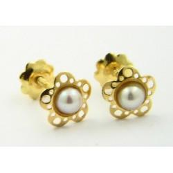 Pendientes oro 750 con perla - REF. RV-1976/PE