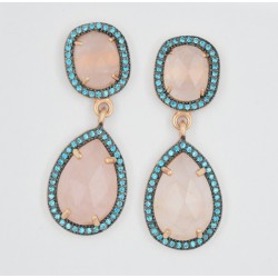 Pendientes Salvatore plata rosa 925 - REF. SA-163A0228/PE