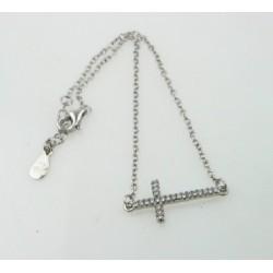 Pulsera plata 925 Cruz Tumbada - REF. SB-950060/PU