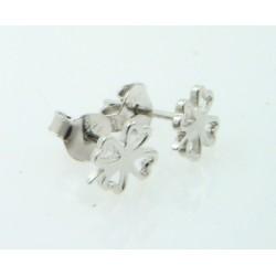 Pendientes plata 925 Trébol - REF. SB-970006/PE