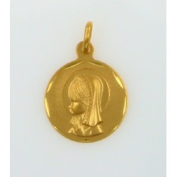 Medalla oro 750 Virgen Niña - REF.