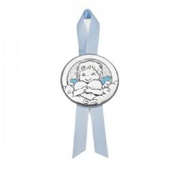 Medalla cuna Durán Exquse plata bilaminada - REF. 07500280