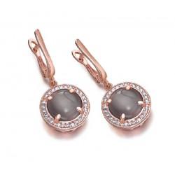 Pendientes Lecarré plata rosa 925 - REF. LB067RS.00