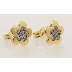 Pendientes oro 750 con circonitas - REF. GA-FRO1691