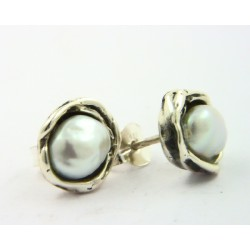 Pendientes La Perionda plata 925 con perla - REF. 0891