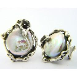 Pendiente La Perionda plata 925 con perla - REF. 0753