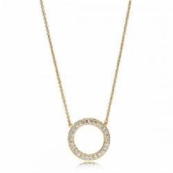 Gargantilla Pandora Shine plata 925 dorada - REF. 367121CZ-45