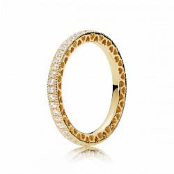 Anillo Pandora Shine plata 925 dorada talla 54 - REF. 167076CZ-54