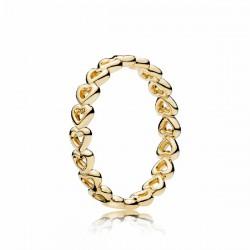 Anillo Pandora Shine plata 925 dorada talla 52 - REF. 167105-52