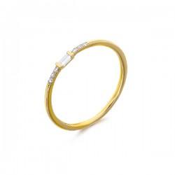 Anillo LeCarré oro 750 con diamantes talla 11 - REF. GA044OA11