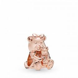 Abalorio Pandora Rosé Osa con osezno - REF. 788007