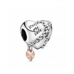 Abalorio Pandora plata 925 y Rosé - REF. 788344