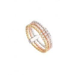 Anillo Itemporality Basic plata 925 tricolor nº 12 - REF. SRN-501-015-12