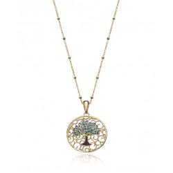 Collar Viceroy Arbol de la Vida plata 925 dorada - REF. 1322C100-18
