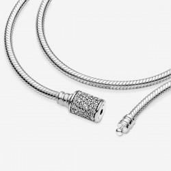 Pulsera Pandora plata 925 Doble 19cm - REF. 599544C01-D19