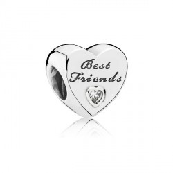 Abalorio Pandora plata 925 corazón ¨Best friends¨ - REF. 791727CZ