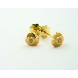 Pendientes oro 18k con circonitas - REF. RV-2213/PE