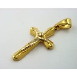 Cruz oro amarillo y blanco de 750 - REF. MO-2806/CR