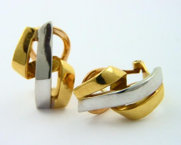7ab7e1feb045 Pendientes oro amarillo y blanco 750 - REF. MO-01C76691P22 - Joyería Manjón