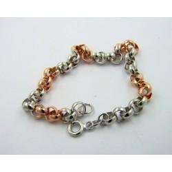 Pulsera oro blanco y rosa 750 rolot - REF. 000430347