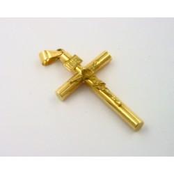 Cruz oro amarillo 750 con cristo - REF. MO-244751/CR
