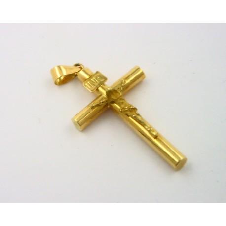 2b25d57aea88 Cruz oro amarillo 750 con cristo - REF. MO-244751 CR - Joyería Manjón