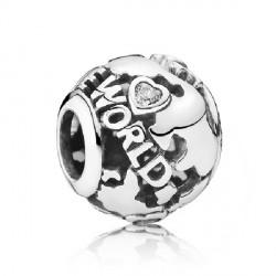 Abalorio Pandora plata 925 globo terrestre - REF. 791718CZ