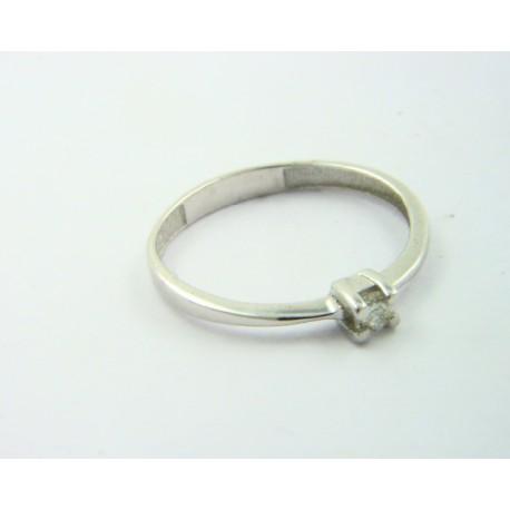 Solitario oro blanco 750 con brillante - REF. STC-B50515528
