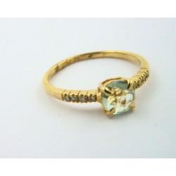 03d72c82b9fa Anillo oro 750 con brillantes y aguamarina - REF. STC-B5051676A