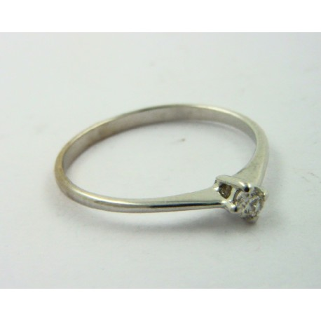 Solitario oro blanco 750 con brillante - REF. STC-B5052604/S