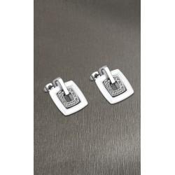 Pendientes Lotus Style acero y cerámica - REF. LS1705-4/1