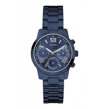 reloj guess azul metalico
